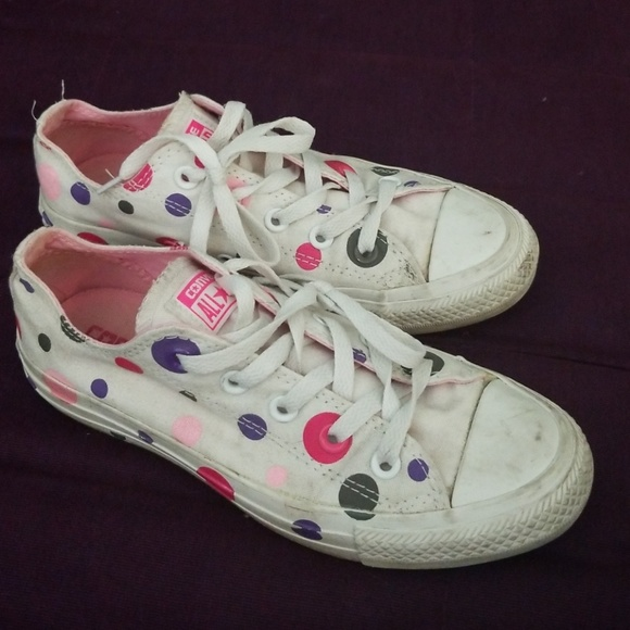 Converse Shoes - Polka dot converse